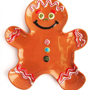 pottery painting, christmas gingerbread man