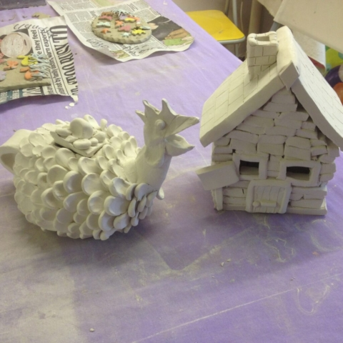 hand made ceramic pottery adult class workshop house chicken sevenoaks kent