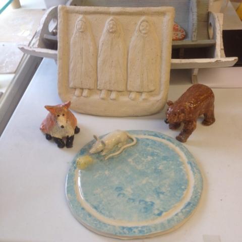 clay fox bear cheeseboard 3 monks ceramic adult workshop sevenoaks