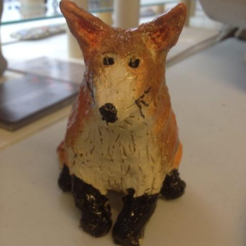 clay hand made pottery fox ceramic adult childrens workshop sevenoaks kent