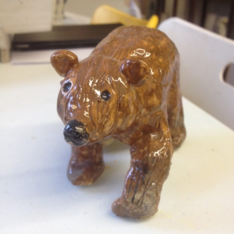 clay ceramic pottery hand made childrens workshop adult bear