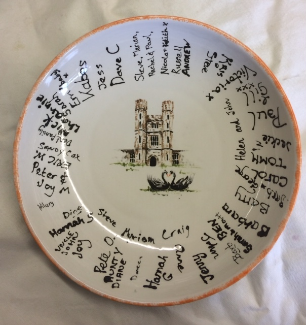 wedding plate hand painted ceramic clay keepsake commission
