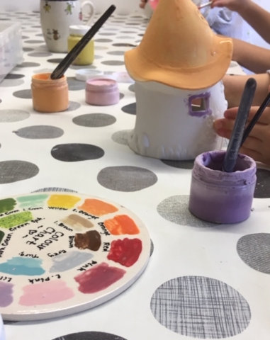 pottery painting children group party sevenoaks kent
