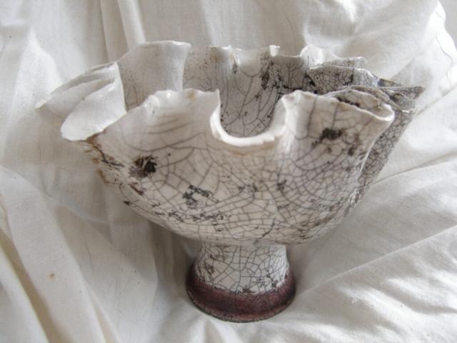 clay ceramic pottery hand made shell bowl sevenoaks kent