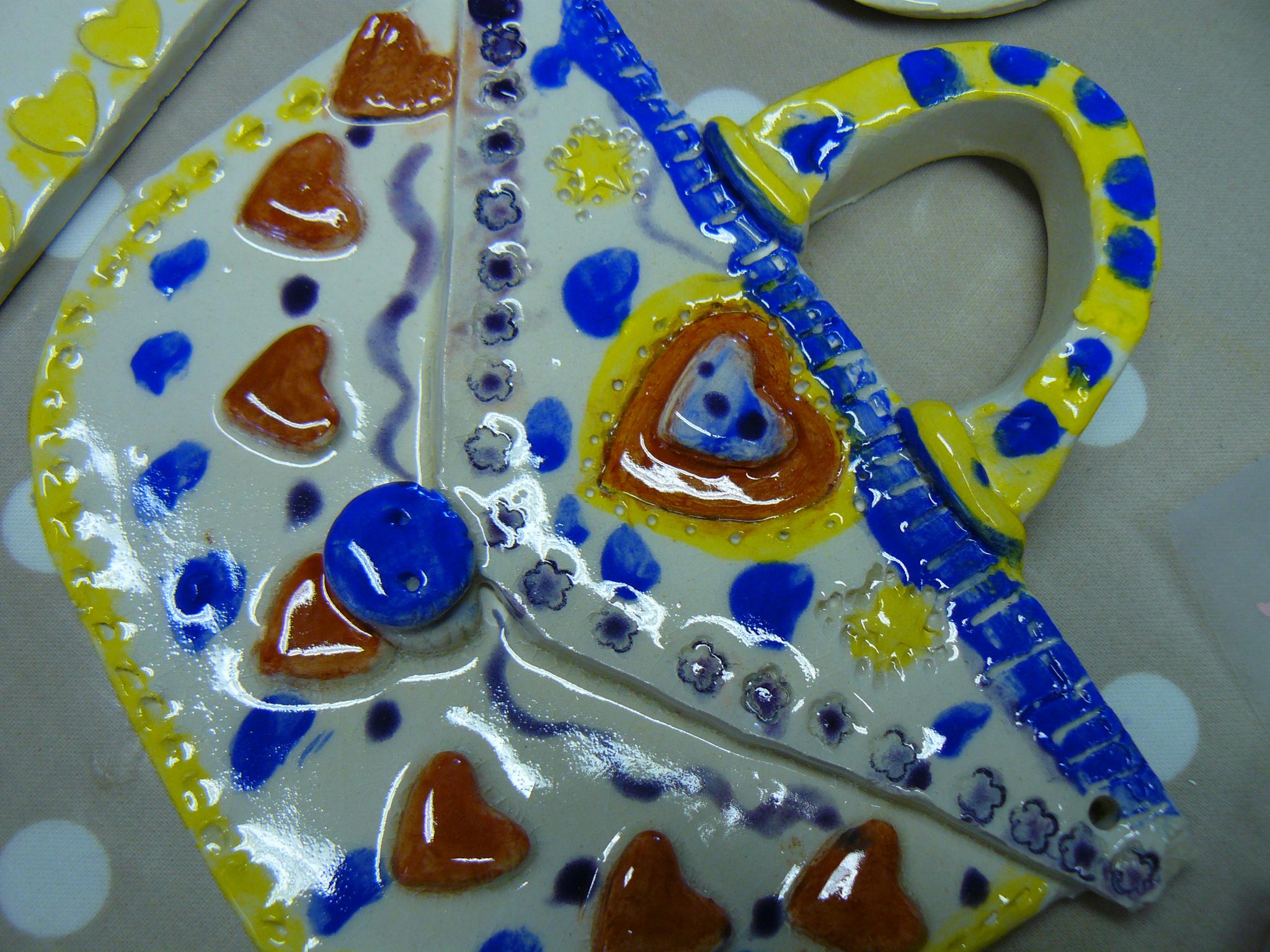 clay ceramic pottery hand made pottery party clayfun sevenoaks kent