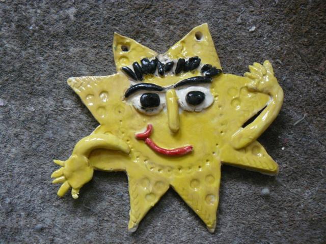 star man clay ceramic pottery hand made sevenoaks childrens