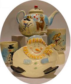 christmas pottery painting ceramic baubles bowls sevenoaks kent