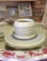 make a pot on the wheel throw a pot clay ceramic pottery