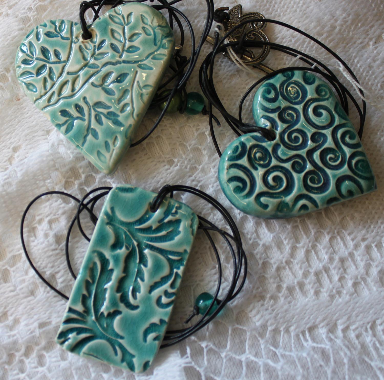 clay hand made jewellery hearts pottery workshop sevenoaks
