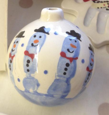 snowman handprints baubles christmas sevenoaks kent grandma presets