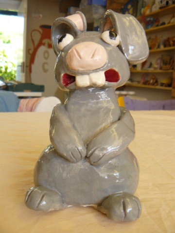 fun with clay, rabbit, ceramic, clay