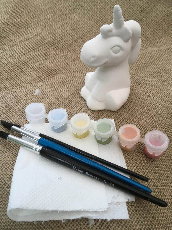 unicorn pottery painting