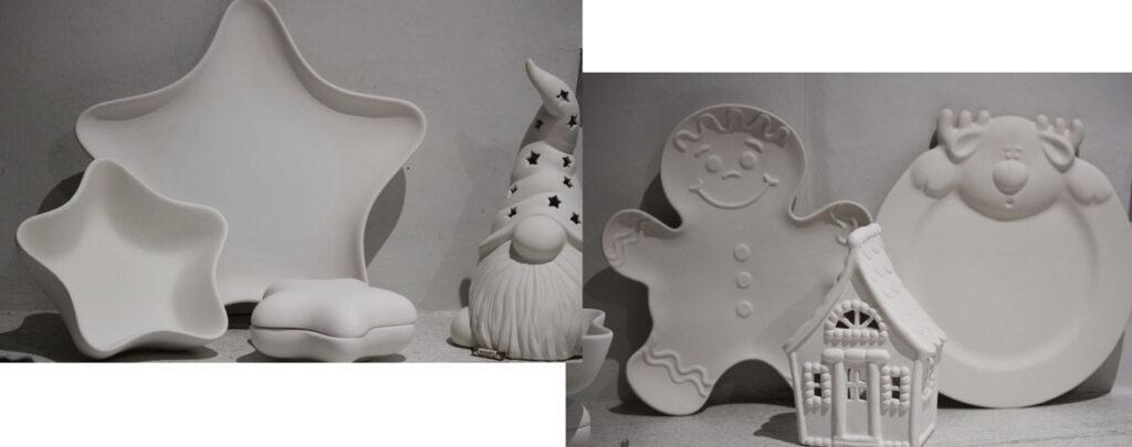 pottery paining, christmas, ceramics, colour, fun,plates,